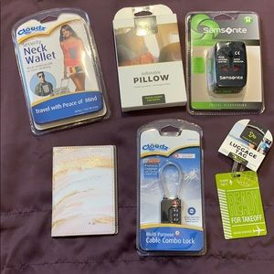 Travel Needs 1-Lock Pillow Adapter Passport Wallet